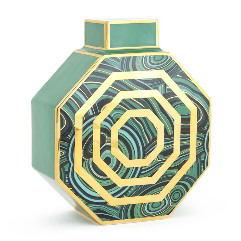 Holding Category for Inventory - Malachite Oct Vase