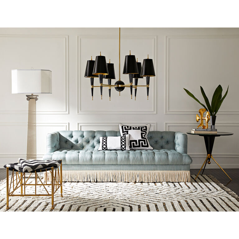 Jonathan Adler | Baxter T-Arm Sofa with Bullion Fringe 6