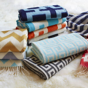 Throws - Greek Key Baby Alpaca Throw