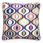 Patterned - Lavender Bargello Waves Throw Pillow