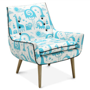 Furniture - Mrs. Godfrey Chair in Jungle Sky