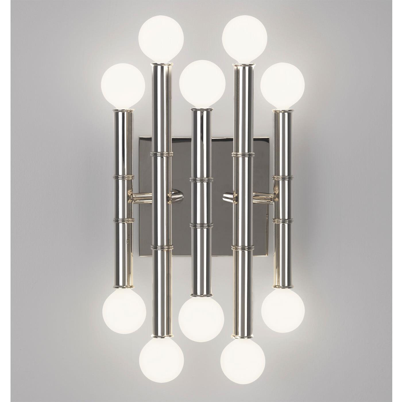 wall lamps u0026amp sconces meurice fivearm sconce - Robert Abbey Lighting