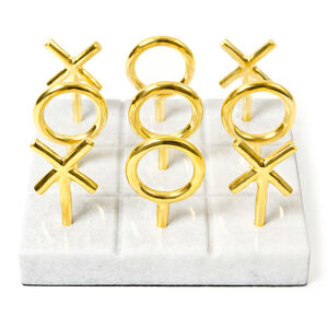 Games - Brass Tic-Tac-Toe Set