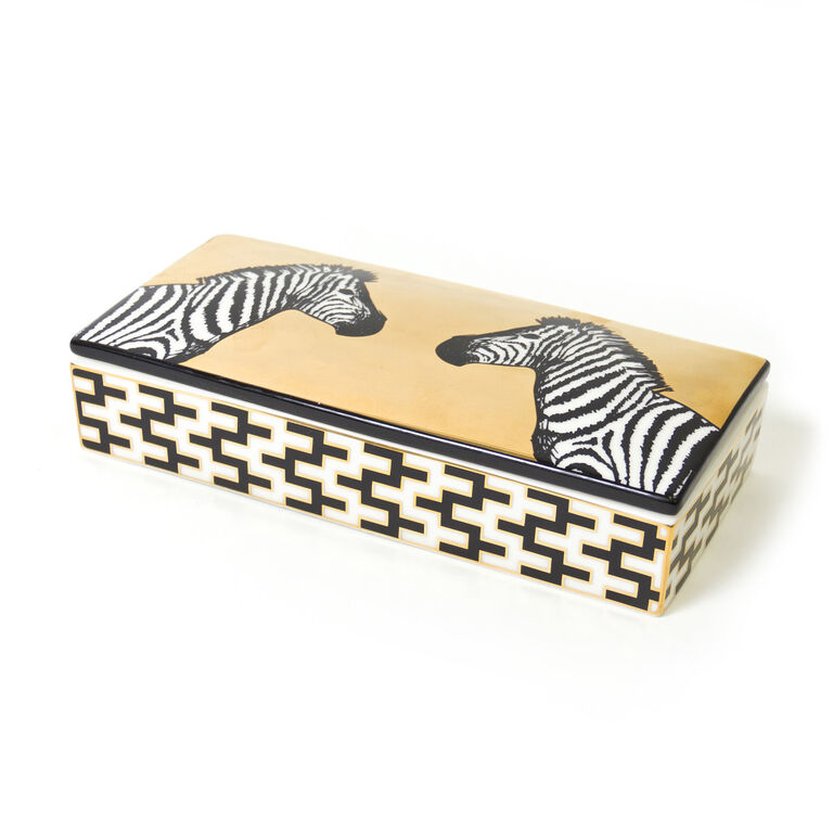 Boxes & Canisters - Animalia Zebra Decorative Box