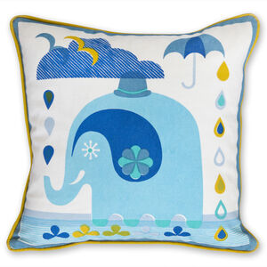 JA Baby - Junior Elephant Throw Pillow