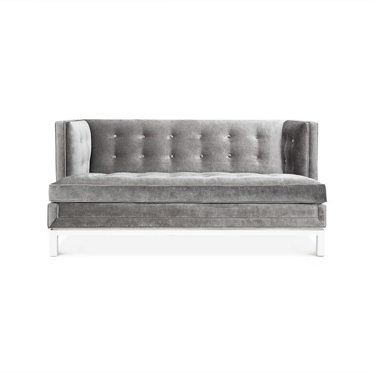 lampert t arm loveseat modern furniture jonathan adler. Black Bedroom Furniture Sets. Home Design Ideas