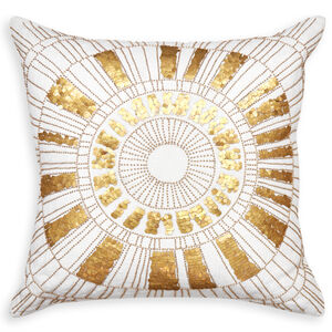 Textured & Embellished - Talitha Sunburst Throw Pillow
