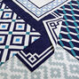Peruvian Flat Weave - Navy/Light Blue Nixon Border Reversible Peruvian Llama Flat Weave Rug