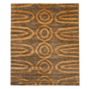 Jonathan Adler for Kravet - Jonathan Adler For Kravet Orange Vertebrae Area Rug