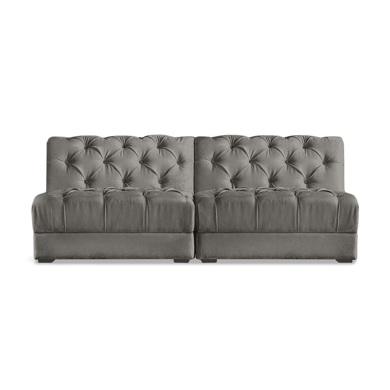 Grant Modern Charcoal Grey Armless Corner Sectional: Ultra Charcoal Modular Sofa