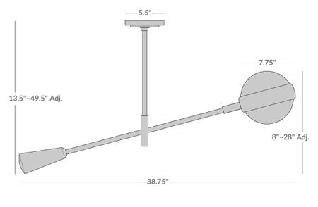 Ipanema Single Boom Pendant Light Isometric 1