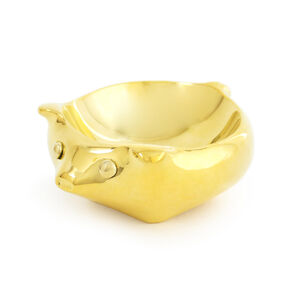 Jewelry Boxes - Brass Pig Ring Bowl
