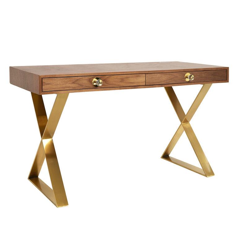 Channing Walnut Desk Modern Furniture Jonathan Adler