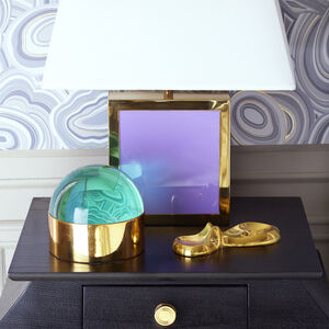 Brass Objets - Swimming Hippo Dish