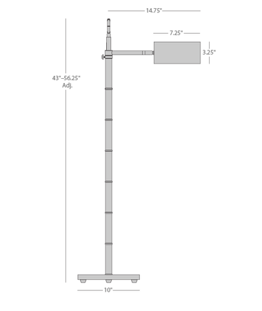 Meurice Task Floor Lamp Isometric 1