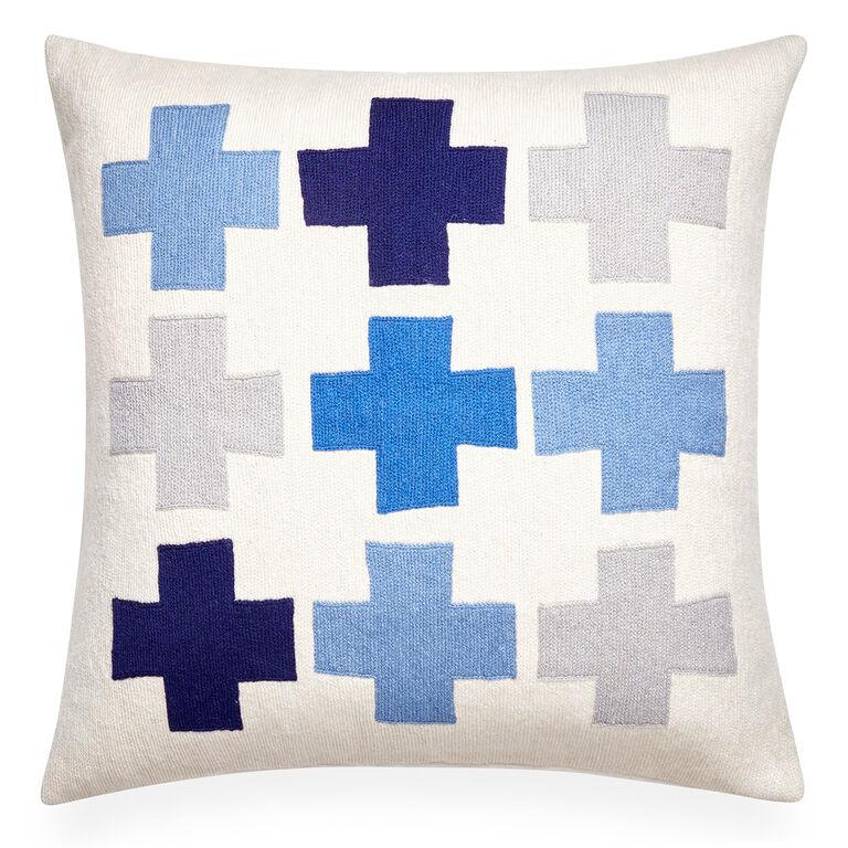 All Pillows - Geo Chain Stitch Plus Throw Pillow