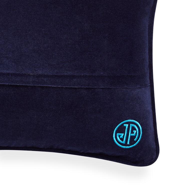 Patterned - Turquoise Bargello Diamonds Throw Pillow