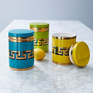Cookie Jars & Canisters - Mykonos Canister
