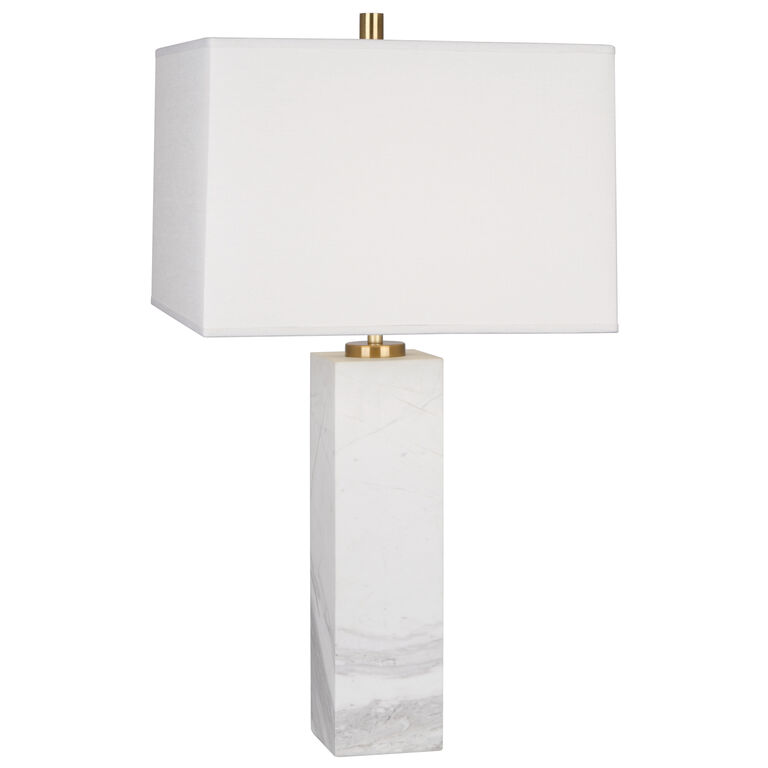 Tall Canaan Marble/White Shade Table Lamp | Modern Table Lamps ...