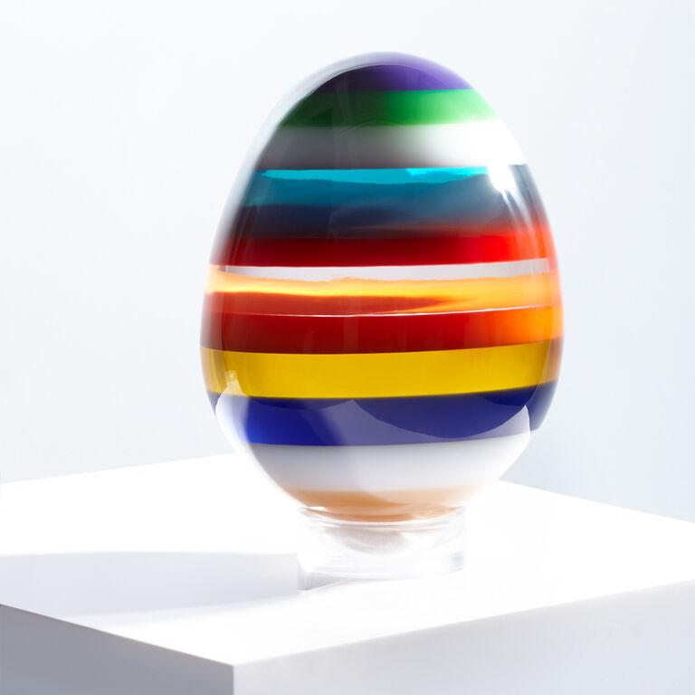 Acrylic Objets - Large Stacked Acrylic Egg
