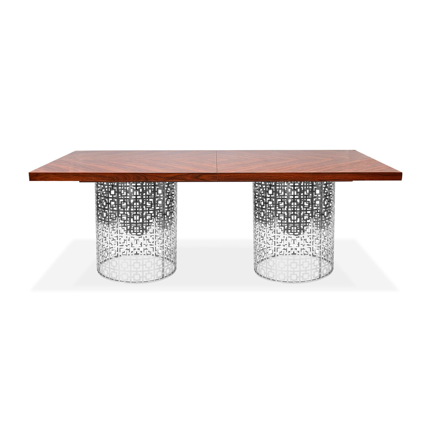 Marvelous Nixon Rosewood And Nickel Dining Table | Modern Furniture | Jonathan Adler