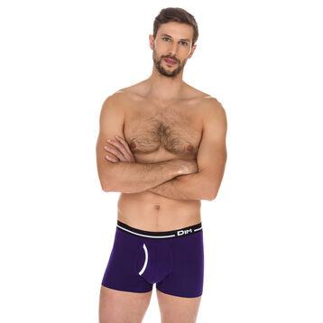 Boxer Australien violet auburn en coton stretch-DIM