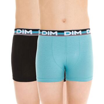 Lot de 2 boxers bleu lagon et noir EcoDIM - DIM Boy-DIM