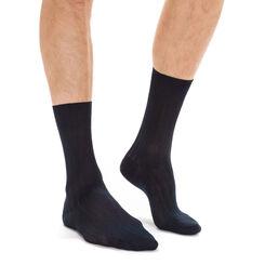 Lot de 2 chaussettes bleu marine en fil d'Ecosse Homme-DIM
