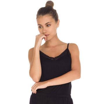 Débardeur de pyjama noir avec dentelle Femme-DIM