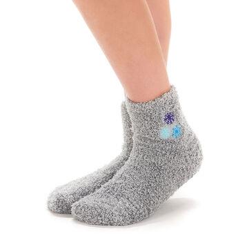 Chaussettes gris clair avec broderie flocons pour Enfant-DIM