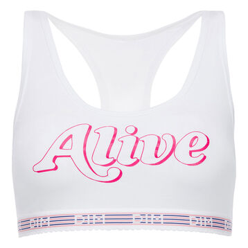 Brassière alive blanche Les Pockets Edition Limitée-DIM