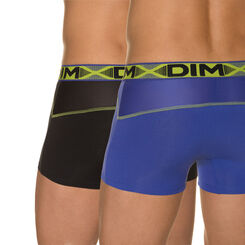 Lot de 2 boxers bleu roi, noir intense 3D Flex Air-DIM