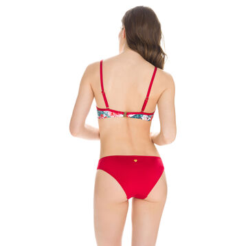 Bas de maillot de bain rouge et imprimé tropical Femme-DIM