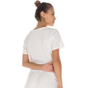 T-shirt manches courtes nacre 100% coton Femme-DIM