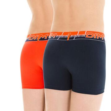 Lot de 2 boxers de sport bleu et orange 3D Flex DIM Boy-DIM