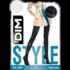 Collant noir motif broderie japonaise Style 41D-DIM