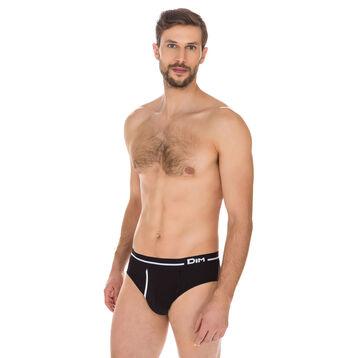 Slip Australien noir en coton stretch-DIM