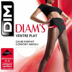 Collant chocolat Diam's Ventre Plat 25D-DIM
