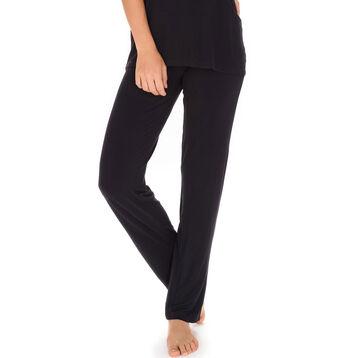 Pantalon de pyjama noir avec dentelle Femme-DIM