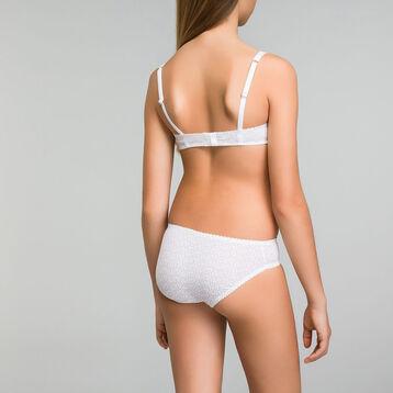 Culotte blanche imprimée en microfibre DIM Girl-DIM
