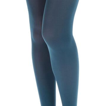 Collant bleu pétrole opaque velouté Style 50D-DIM