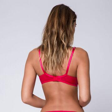 Soutien-gorge rouge cerise à armatures Generous Féminine-DIM