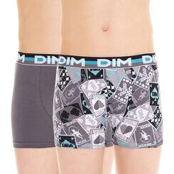 Lot de 2 boxers gris et imprimé EcoDIM - DIM Boy-DIM