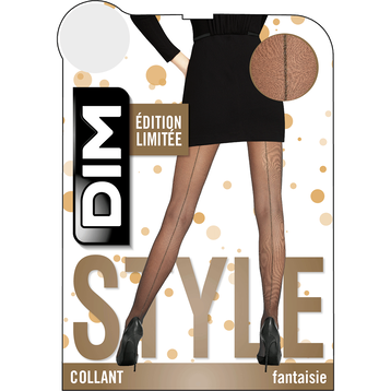 Collant noir couture or 15D Madame so Chic-DIM