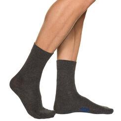 Lot de 3 paires de chaussettes anthracites Homme en Coton-DIM
