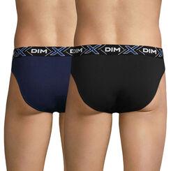 Lot de 2 slips bleu marin et noir X-TEMP-DIM
