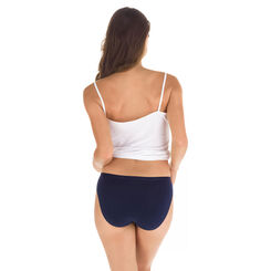 Lot de 3 slips couronne bleu en coton stretch Les Pockets-DIM