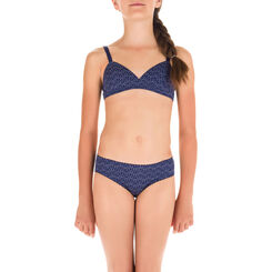 Culotte bleu marine imprimée en microfibre DIM Girl-DIM