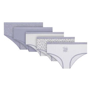 Lot de 5 boxers étoile gris en coton stretch Les Pockets-DIM
