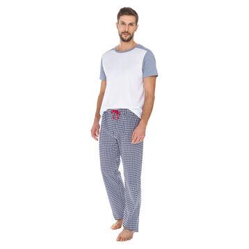 Pantalon de pyjama imprimé matelot 100% coton Homme-DIM